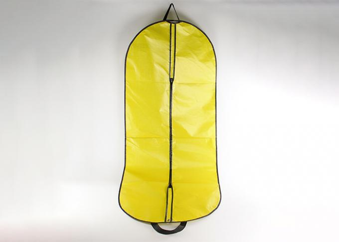 Yellow Dress Garment Bag With Lamination , Suit Garment Bag Full Color Printed