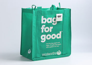 China Promotional Non Woven Tote Bag 100gsm 31*18.5*34cm Foldable Bag Style distributor