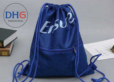 China Small Personalized Drawstring Bag Backpack Custom Logo Easily Packed Mesh Outside factory