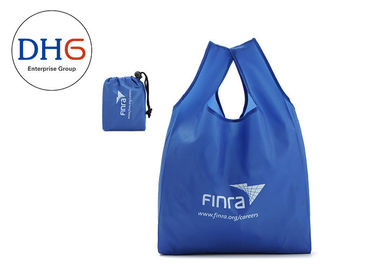 China Utility Blue Polyester Tote Bags Silk Screen Printed 28*40cm Dust Proof Hot Stamping factory