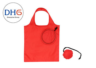 China Stylish Market Polyester Tote Bags 210D Easily Packed With Small Pocket factory