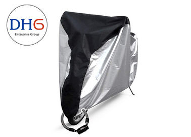 China Durable Push Bike Rain Cover 190T Polyester Elastic Cord Bottom With Windproof Buckle factory