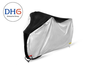 China Silve Black Bicycle Protective Cover Polyester Moisture Proof Interlock Seams factory