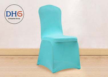 China Sitting Pretty Wedding Chair Covers Light Blue Environmental Friendly For Resturant distributor