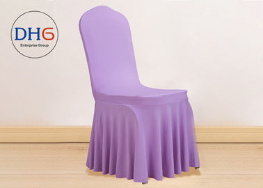 China Banquet Style Folding Chair Covers Stretchable Machine Washing 85-105m High distributor