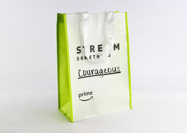 China RPET Large Non Woven Tote Bag Polypropylene Reusable Shopping Bags With Lamination distributor