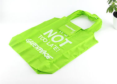 China Folding Reusable Shopping Bags Fits In Pocket , Custom Polyester Shopping Bags factory