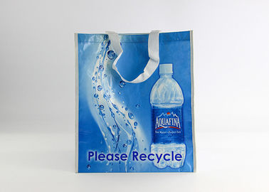 China Recycled Plastic Bottle Non Woven Laminated Tote Bags Reusable Shopping Bag distributor