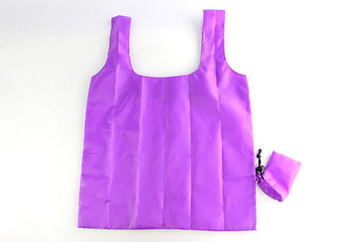 China RPET Non Woven Polyester Tote Bags Easily Folding Into Attached Pouch factory