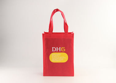 China Red Color 80 Gsm Non Woven Tote Bag , Recyclable Large Reusable Shopping Bags factory