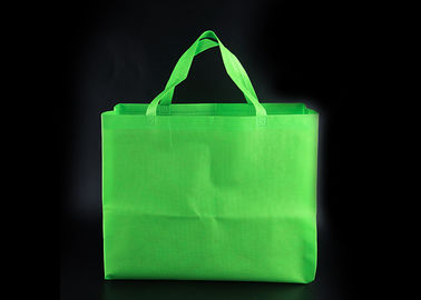 China Green Color Reusable Non Woven Tote Bags In Bulk For Super Market Shopping factory