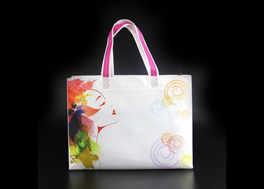 China High Gloss Large Size Laminated Non Woven Shopping Bag With Durable Handle factory