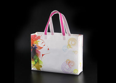 China Handle Non Woven Shopping Bag With Gusset , Recycled Grocery Tote Bags factory